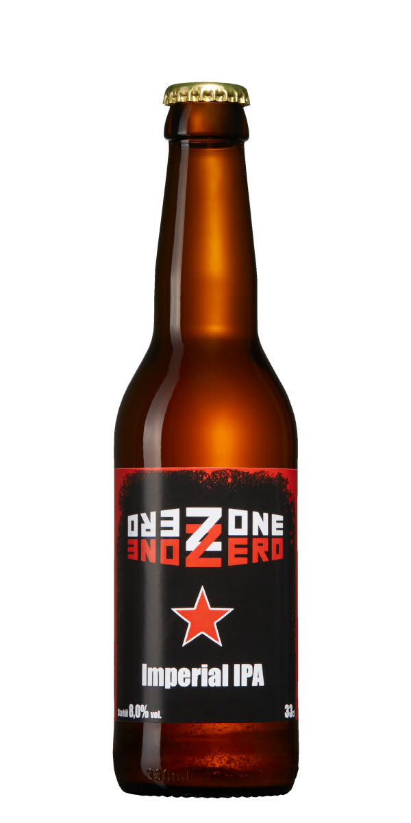 Bild på en öl Zone Zero som är en Imperial IPA från mikrobryggeriet The Beer Factory i Leksand, Dalarna